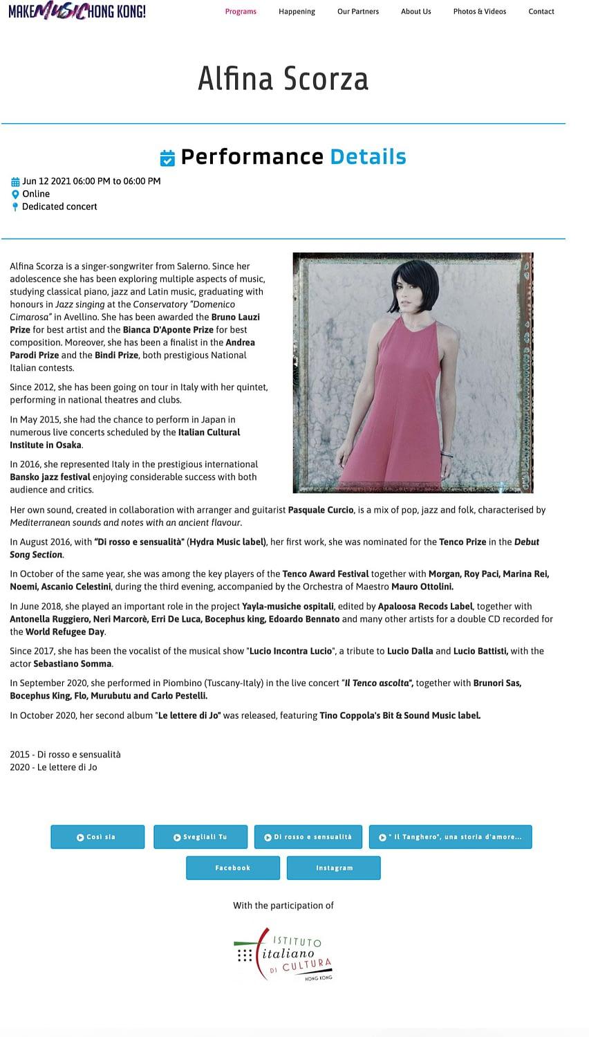 Make Music Hong Kong Alfina Scorza 1